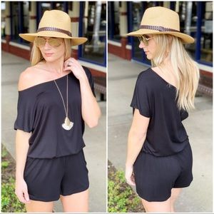Infinity Raine Pants - Black knit romper